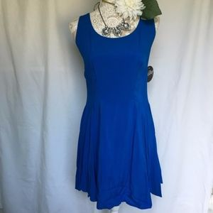 Be Bop // NWT Royal Blue Exposed Zip Skater Dress
